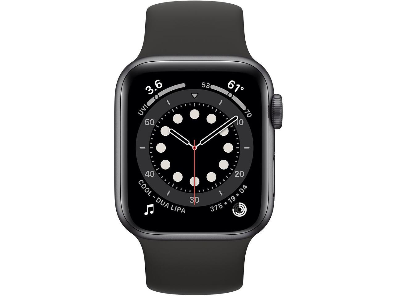 apple watch series 6 40mm space gray aluminum black solo loop