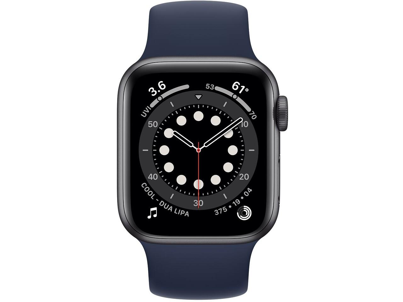 apple watch series 6 40mm space gray aluminum deep navy solo loop