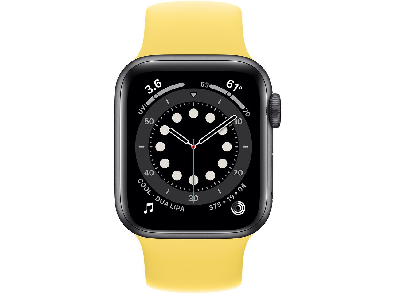 apple watch series 6 40mm space gray aluminum ginger solo loop