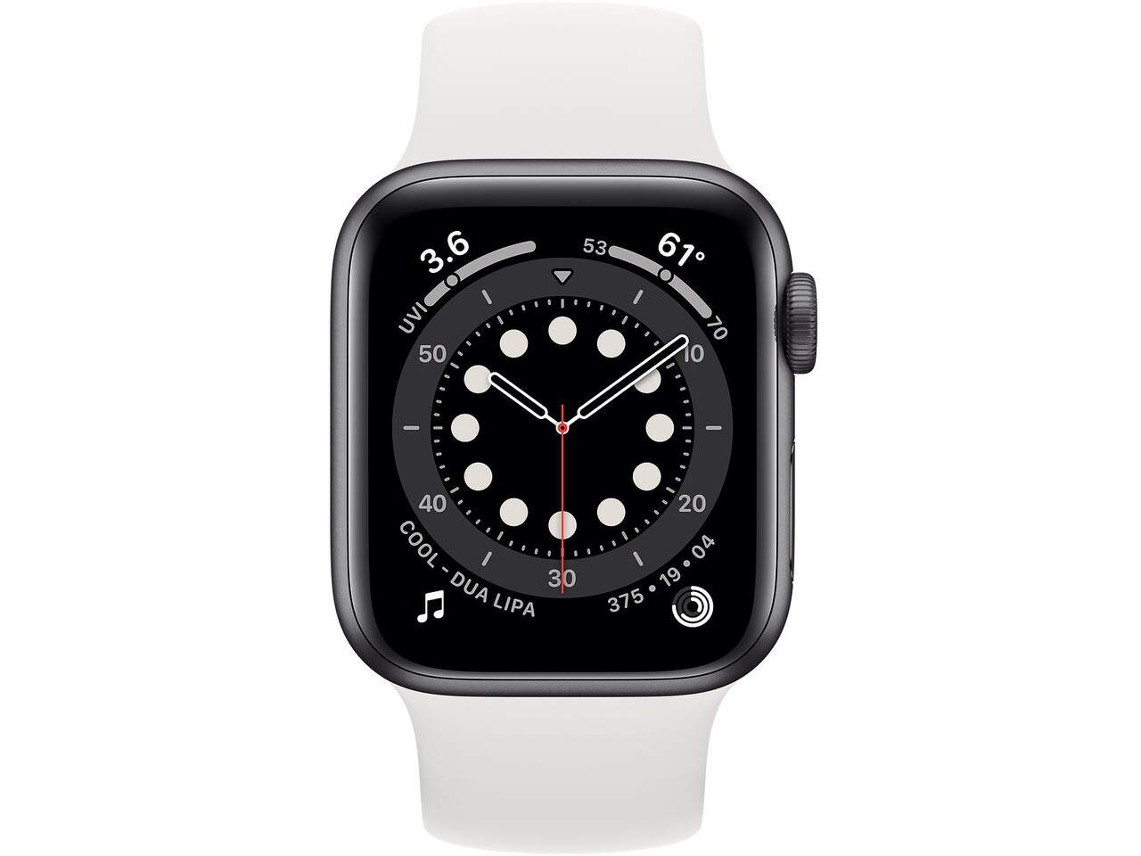 apple watch series 6 40mm space gray aluminum white solo loop