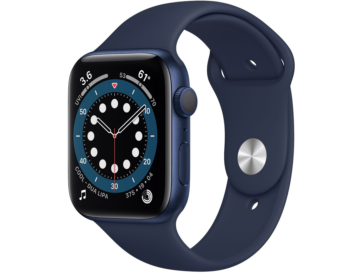 apple watch series 6 44mm blue aluminum deep navy sport band