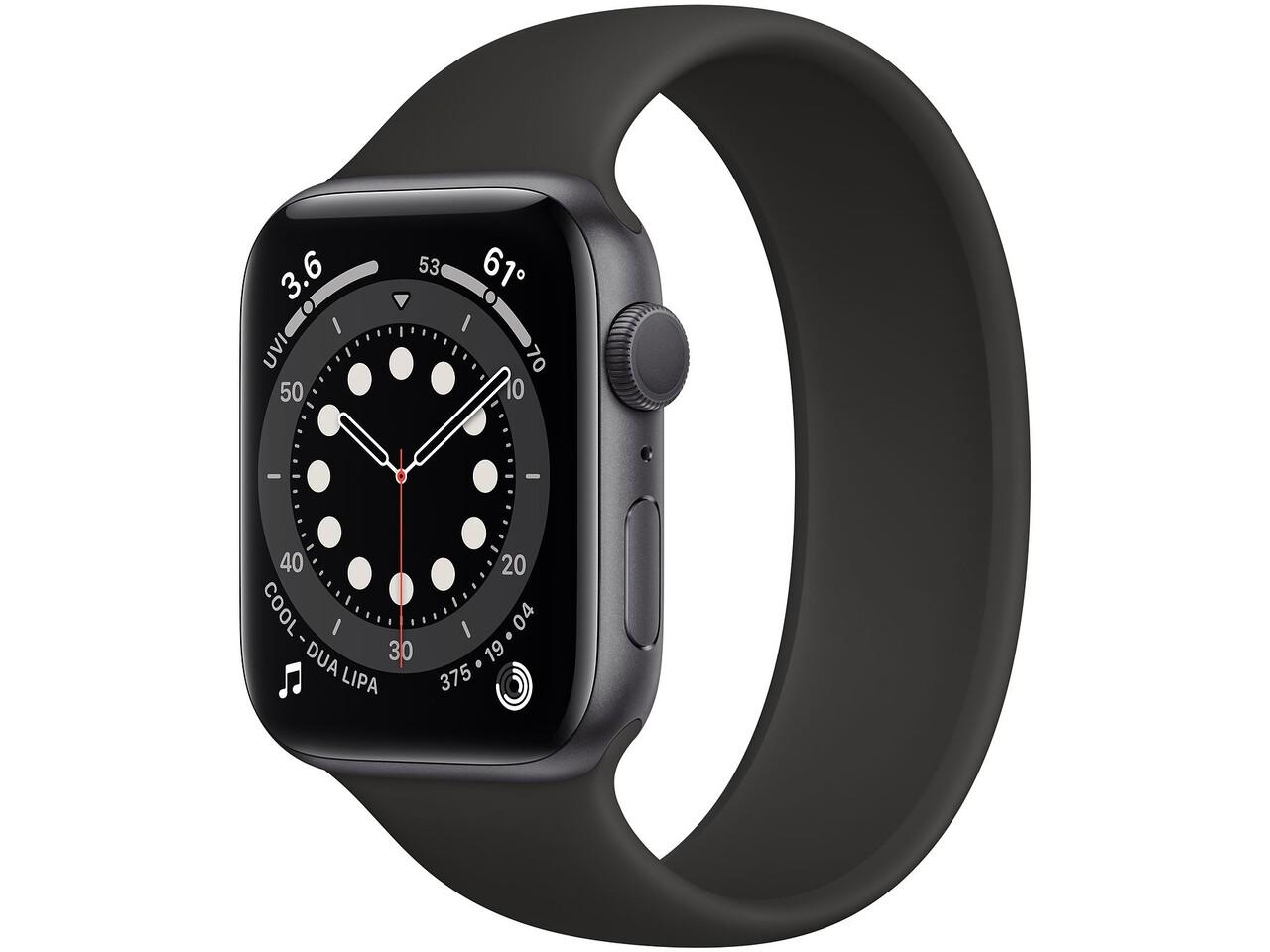 apple watch series 6 44mm space gray aluminum black solo loop