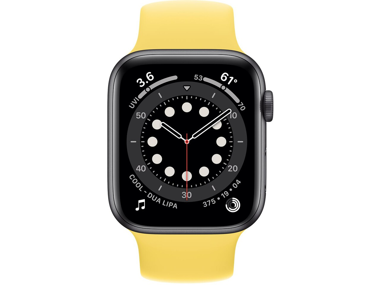 apple watch series 6 44mm space gray aluminum ginger solo loop
