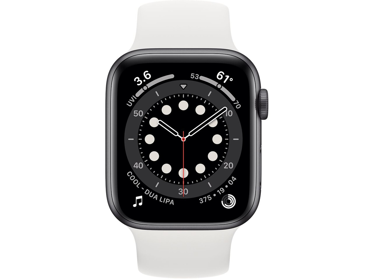 apple watch series 6 44mm space gray aluminum white solo loop