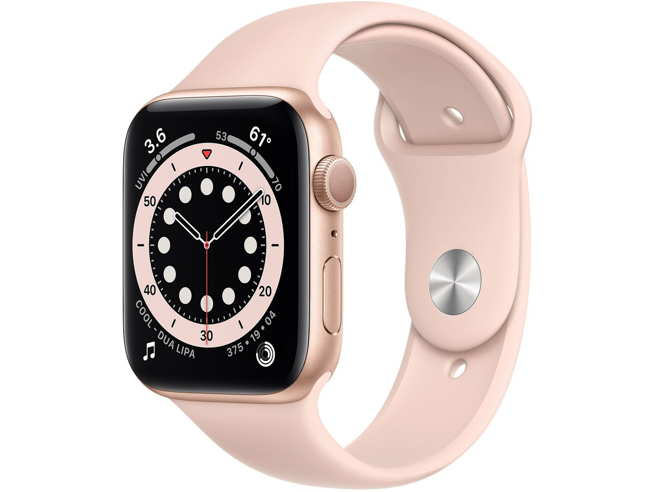 apple watch series 6 cellular 40mm gold aluminum pink sand sport band
