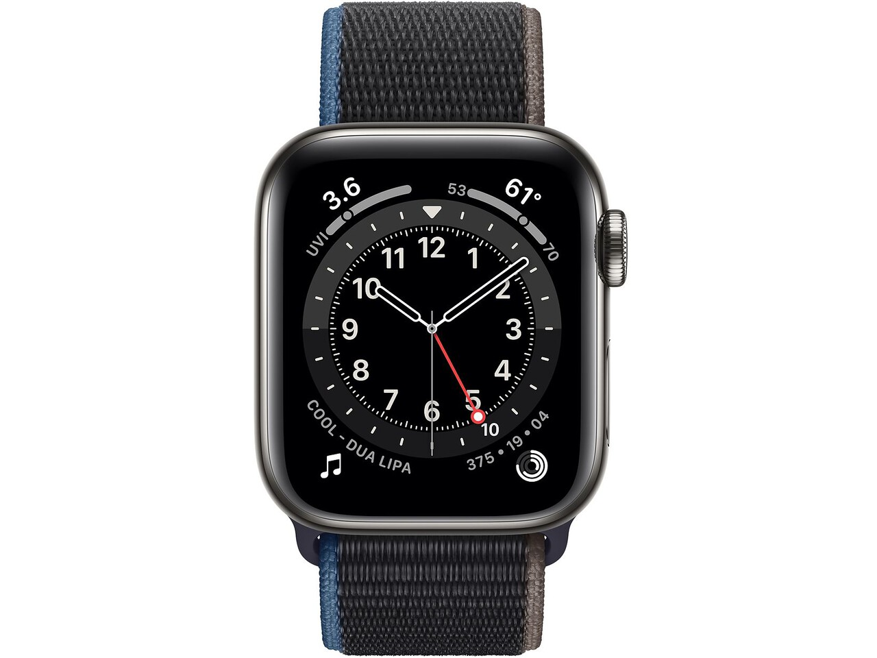apple watch series 6 cellular 40mm graphite milanese loop charcoal sport loop