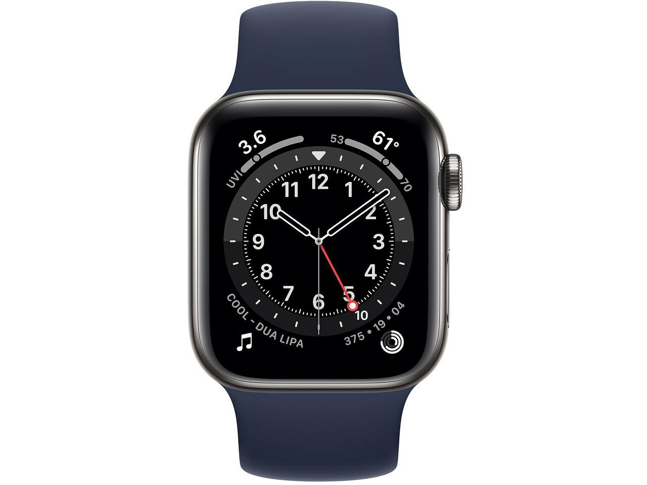 apple watch series 6 cellular 40mm graphite milanese loop deep navy solo loop