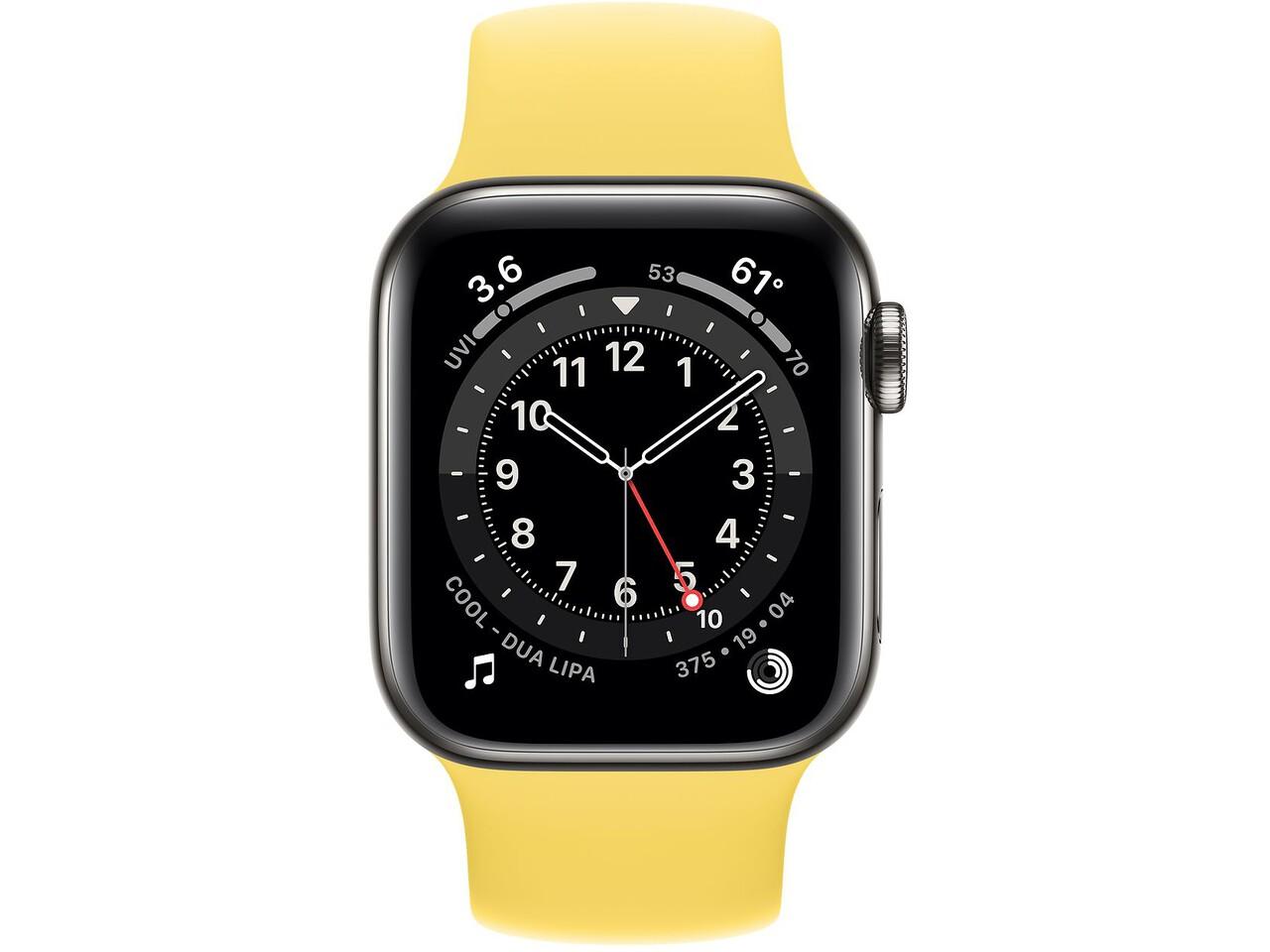 apple watch series 6 cellular 40mm graphite milanese loop ginger solo loop