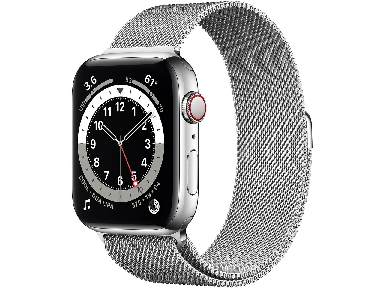 apple watch series 6 cellular 40mm silver milanese loop silver milanese loop