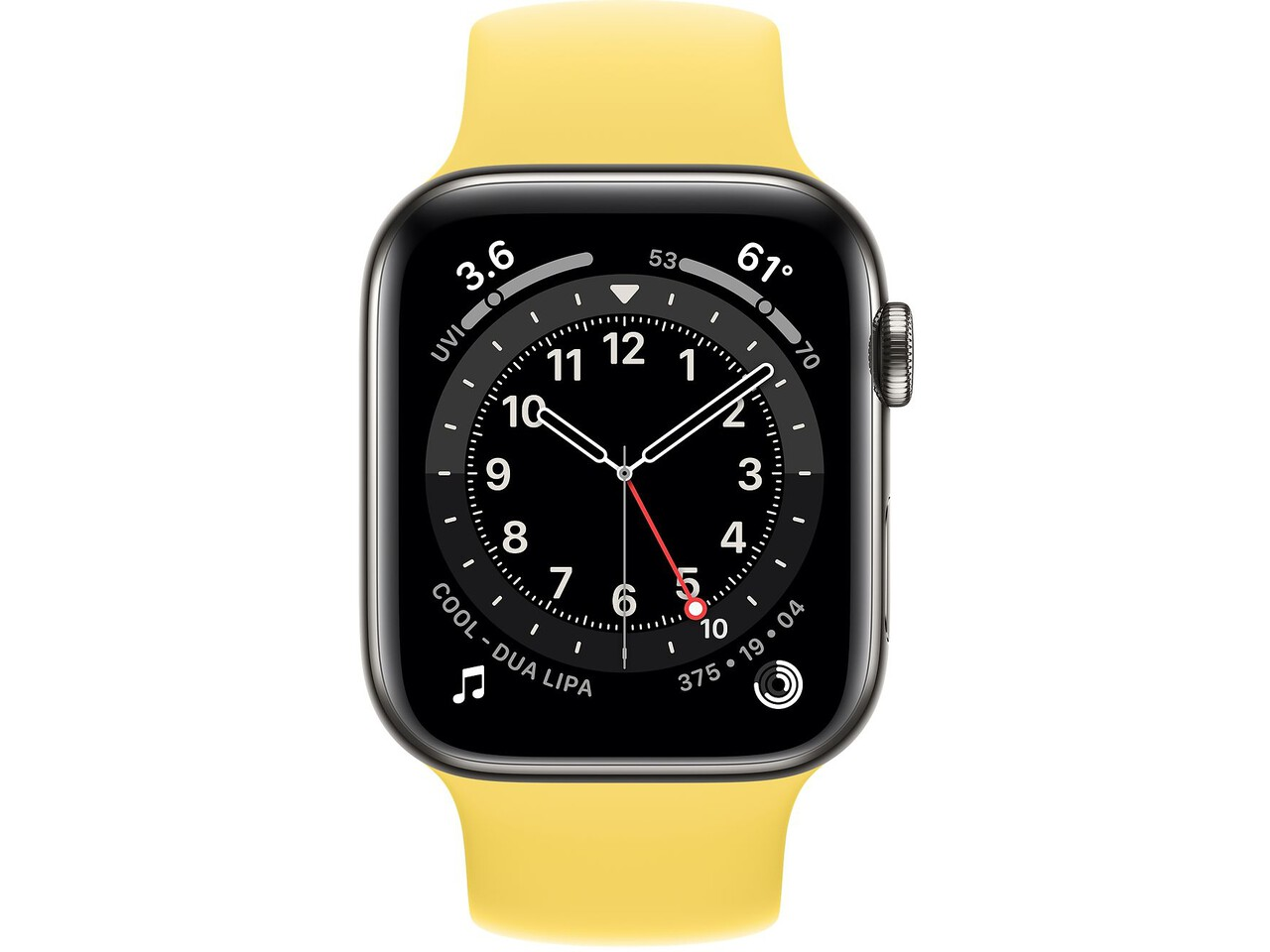 apple watch series 6 cellular 44mm graphite milanese loop ginger solo loop