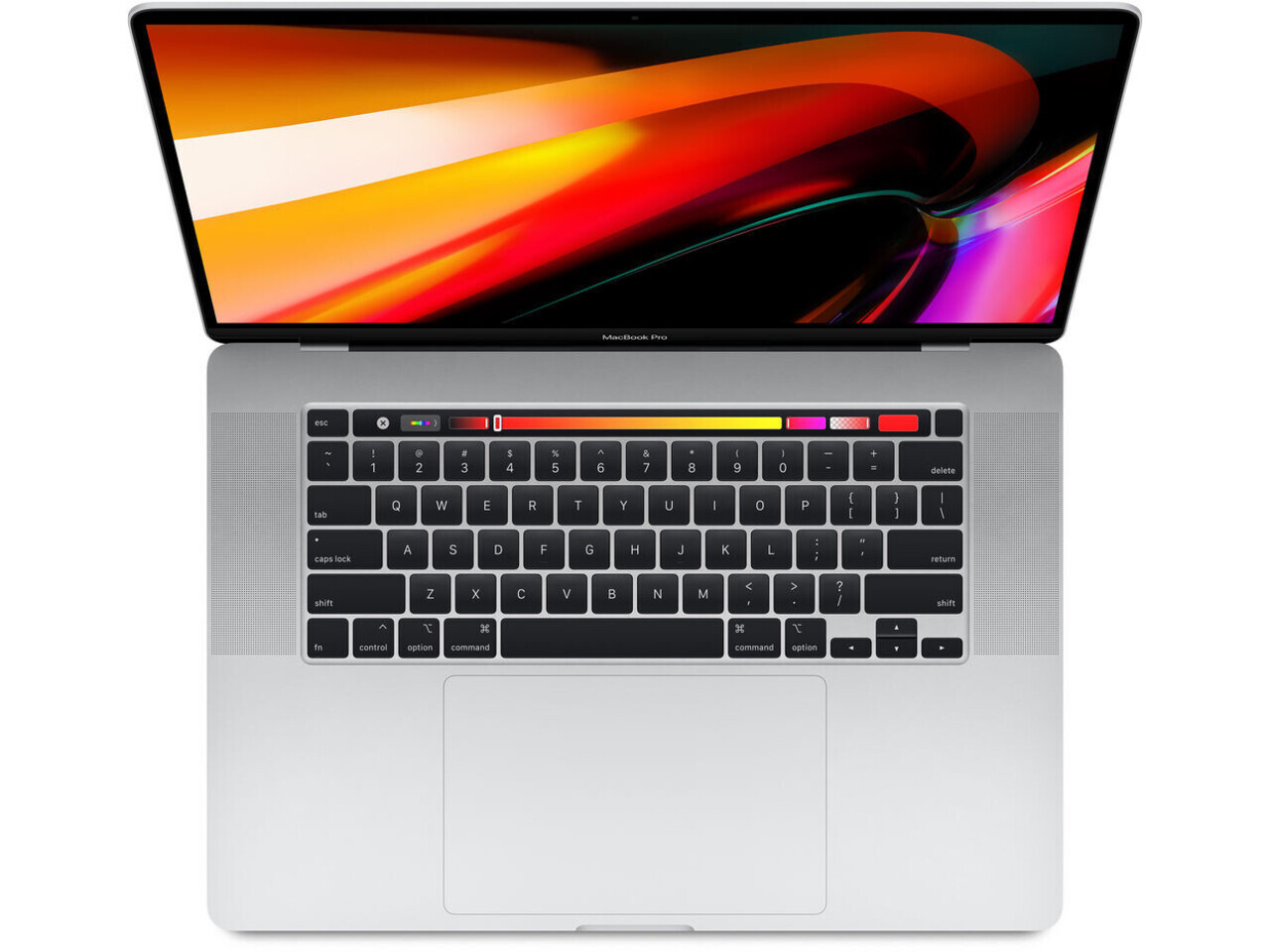 macbook pro 16 inch touch bar 2019 silver